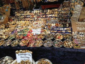 Vendor stall on Portobello Road.
