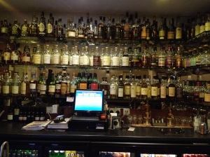 The bar at The Stuart Arms