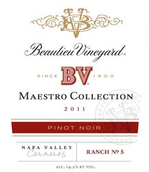 2011 BV Maestro Collection Pinot Noir copy