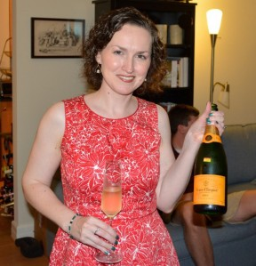 Happy Blogiversary to me! (This photo is actually from my birthday in May, hence the summer dress.)