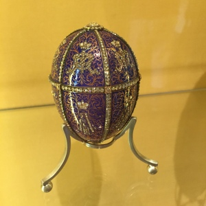 Fabergé egg - one of two on display.