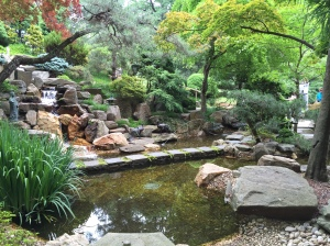 The Japanese-style garden.