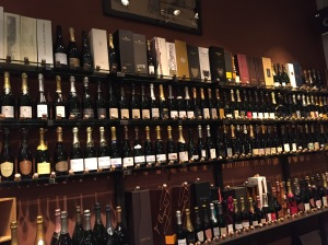 Wall of Champagne at Le Cru