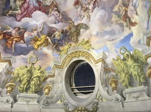 Frescoes inside Karlskirche.