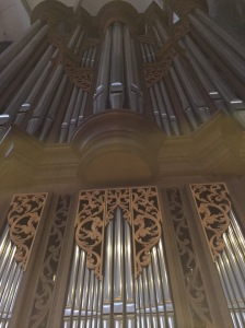 The organ (one of three) inside Stephansdom.