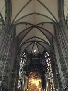 Inside Stephansdom.